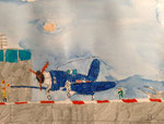 Aquarelle et feutres,  Benjamin, 7,5 ans