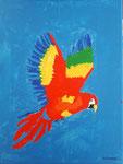 Perroquet de Alexandre 9 ans  (acrylique sur toile)