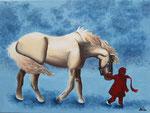 Acryllique sur toile, Audrey 13,5 ans