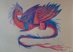 Dessin aux crayon aquarellables, Lucie H.