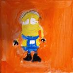 """""""Mignon"""" de Aaron, 8 ans (acrylique sur toile)"""