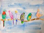 aquarelle de Chloé, 12 ans et demi