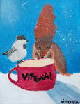 Acrylique sur toile de Vittoria, 7 ans
