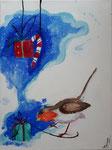 Acrylique sur toile de Clémence, 9 ans et demi