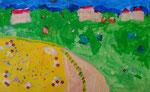 Paysage de Mélodie, 5 ans (acrylique sur papier)