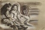 dessin au fusain de Adèle B. 17,5 ans
