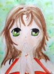 Manga de Axelle, 10 ans (aquarelle)