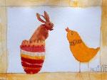 """""""Pâques"""", aquarelle de Pauline, 5 ans et demi"""