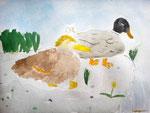 Aquarelle de Lilimay, 10 ans