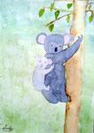 Koala de Maélys, 8 ans (aquarelle)