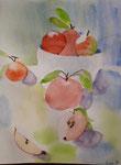 Pommes de Lucie, 9 ans (aquarelle)