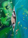Acryllique sur toile, Laure 15,5 ans