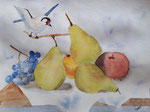 Nature morte, aquarelle de Laure, 13 ans et demi