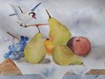 Nature morte, aquarelle de Laure, 13 ans et demi