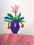Bouquet à la gouache de Pauline, 5 ans et demi