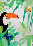 Toucan de Manon, 10,5ans, aquarelle