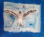 Acrylique sur toile de Manon, 8 ans