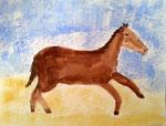 Cheval de Rose, 7 ans et demi (aquarelle)