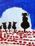 Acrylique sur toile de Manon, 6 ans et demi