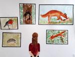 """""""les animaux de la forêt', Jeanne 13 ans (aquarelle)"""