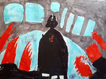"""Dark Vador"", dessin aux feutres, Nawfel, 7 ans et demi"