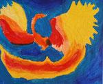 Acrylique sur toile de Clément 8,5 ans