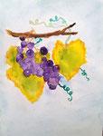Grappes de raisin d'Eloïse, 11 ans (aquarelle)