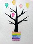 """""""L'arbre d'anniversaire"""", Marine G. 15 ans et demi (aquarelle sur papier)"""