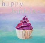 Cup Cake de Lucie, 9 ans (acrylique sur toile)