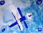 Avion de Clément, 6 ans et demi (acrylique)