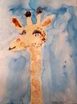 Girafe de Manon, 6 ans, aquarelle