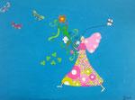 """""""L'arrivée du printemps"""", Elise, 10 ans (acrylique sur toile)"""
