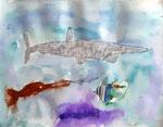 Aquarelle de Nawfel, 7 ans et demi