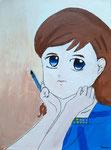 Acrylique sur toile de Jeanne 10,5 ans