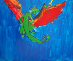 Dragon , acrylique de Nawfel, 7 ans