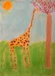 Girafe de Junerose, 6 ans (pastel)