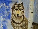 Loup de Rose, 7 ans et demi (aquarelle sur papier)