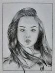 Dessin au crayon, Tiphaine, 12,5 ans