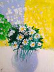Bouquet de marguerites, Colomba, 7 ans et demi (acrylique sur toile)