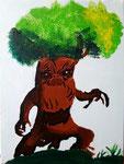 """""""L'arbre terrifiant"""", Romain G., 12 ans (acrylique sur toile)"""