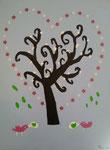 """""""Mille et une fleurs"""", Elise F., 10 ans et demi (acrylique sur toile)"""