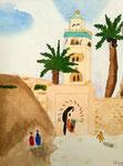 Marrakech, Lilimay 10 ans (aquarelle)