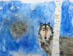 Loup de Lilimay, 10 ans (aquarelle sur papier)