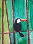 Toucan (acrylique sur toile)