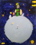 Le Petit Prince, Salma 5 ans (acrylique sur carton toilé)