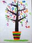 """""""L'arbre des maths"""", Caroline B. , 8 ans et demi (acrylique sur toile)"""