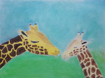 Girafe, pastel de Maëlys, 10 ans et demi