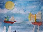 Aquarelle de Benjamin, 6 ans et demi