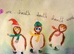 """""""Une chouette année"""", carte de voeux de Junerose, 6 ans (aquarelle sur papier)"""