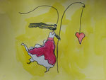 Caroline, 7 ans et demi, aquarelle sur papier